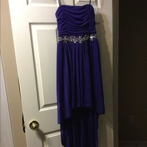 14 prom dress high to low only worn once